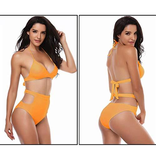 Gtfhuh Costumi Costume Vita Halter Bikini Due Set Da Out Push Backless Moda Donna Cut Up A Alta Pezzi Sexy Bagno w6wEqvrg