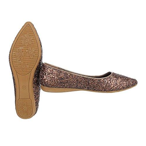 Ital-Design Women's Low-Top Bronze Y8dVKUsy