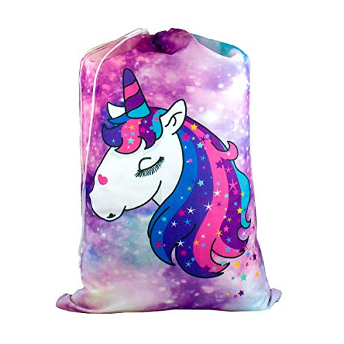 - Cute Designer Laundry Bags - Large Size: 24 x 32 Inches - Store Dirty Clothes for Summer Camp, Dorm, RV, or Home (Sparkle Like a Unicorn)