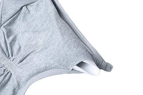 Grigio Allattamento Allattamento aggiunta con 2 bretelle removibili Pcs Reggiseno donna Reggiseno e senza per Aibrou in cuciture da 4nCZAEqgw