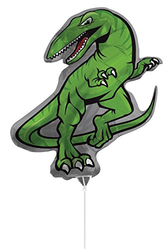 Air-Filled Dinosaur Balloon with Stick and Joiner, 30