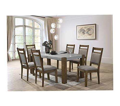 Costabella 7 PC Dining Set Table with 6 Chairs Decor Comfy Living Furniture Deluxe Premium Collection