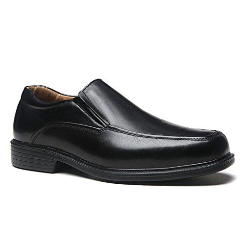 La Milano Wide Width Mens Geniune Leather Moc Toe Slip On Dress Shoe in EEE width ()