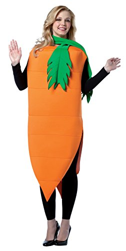 UHC Carrot Outfit Funny Comical Theme Party Fancy Dress Halloween Costume, (Carrot Halloween Costumes)