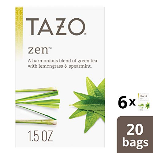 Tazo Zen Green Tea Filterbags , 20 Count (Pack of 6) ()