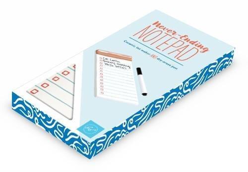 Notepaper White Personal (Never-Ending Notepad: Ceramic list maker and dry-erase pen)