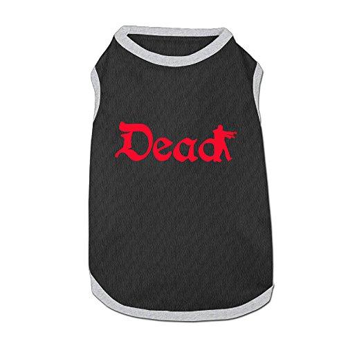 Dog Clothes DEAD Man Dog Vest Costumes Cute 100% Polyester Fiber Dog Clothes Pet Clothing (Spirit Action Wear)