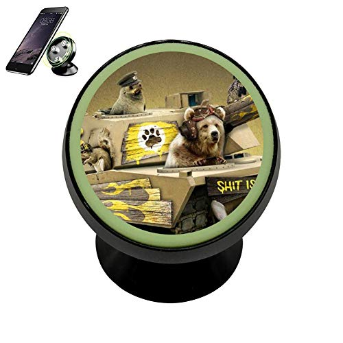 Kelly Heroes Tank Dog Transport Phone Disonnect Luminous Holder Magnetic Universal Cradle Stand Cars Dashboard Mount Strong Magnets Cell Phone Kit for Woman Men