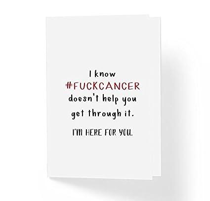 Amazon fukc cancer adult encouragement greeting card 5 x 7 fukc cancer adult encouragement greeting card 5quot x 7quot blank inside m4hsunfo