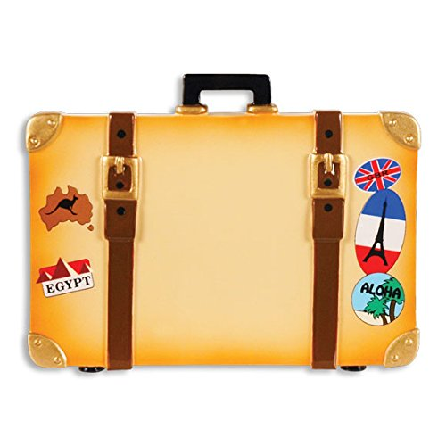 PERSONALIZED CHRISTMAS ORNAMENTS TRAVEL- WORLD TRAVEL TRUNK