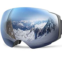 JK MOTION Ski Goggles-Anti Fog Snow Gogg...
