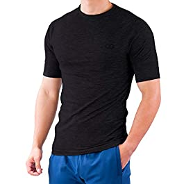 Contour Athletics Men's (Hydrafit) Quick Dry Short Sleeve Running Fitness Performance T-Shirt …