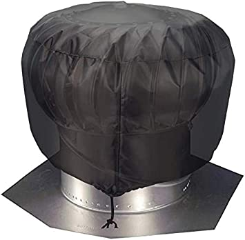 Turbine Roof Vent Cover Heavy Duty Waterproof Turbine Ventilator Cover Fit 12 In 20 In Protector With Nylon Draw String Jjz113 20in 20 X20 Black Amazon Com