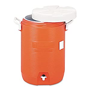 RHP1840999 - Insulated Water Cooler, 5 Gal, Orange, 10quot;dia X 19 1/2quot;h, Polyethylene