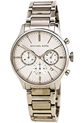Michael Kors Chronograph Silver Tone Stainless Steel Watch MK5985