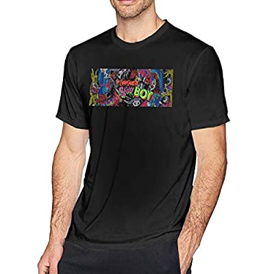 OYQGEJGPJA The Chainsmokers Sick Boy Teenage Mens T-Shirt for Kids Black