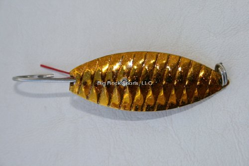 (Aqua Dream Living WSOG 1/4-Ounce Weedless Spoon, Gold Finish)