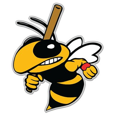 Baseball Bee Wasp Hornet Bumble Bee Vinyl Sticker - Car Phone Helmet - SELECT ()