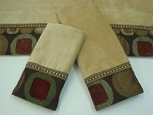 sherry kline metro spice 3 piece decorative towels - Decorative Towels