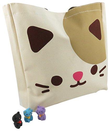 Daiso Cute Kitty Cat Tote Bag ()