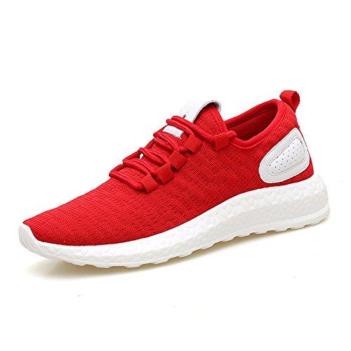 Pisos SM8357 Ejecutan Zapatos Hombres para con Ligeros Zapatos Grises Cordones FZDX Negro RED Deportivos Que Y06qZHw