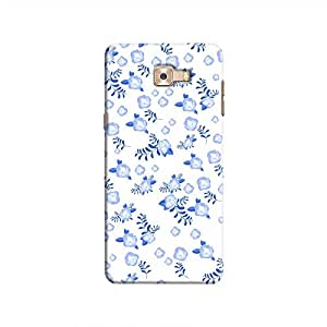 Cover It Up - Blue Flower Paper White Samsung Galaxy C9 Pro Hard Case