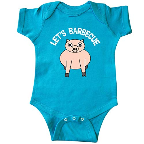 inktastic - Let's Barbecue White Text Infant Creeper Newborn Turquoise 30b1a