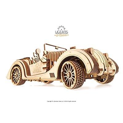 Ugears 70052 Vm 01 Roadster Auto 3d Legno Arte Dyi Modellino Di Progetti Per Adulti E Bambini 3d Modello Tecnico In Legno