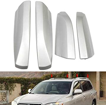 Amazon Com For Toyota Highlander Ux40 2008 2014 Roof Rack Rail End Cover Shell Cap Replace Home Improvement