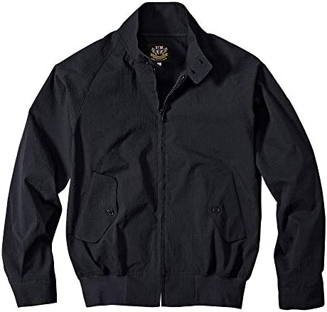 [ヘリンボーンクラブ] ジャケット シアサッカー使用 スイングトップ ブルゾン メンズ
