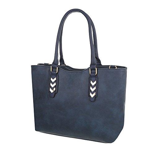 Taschen Hadtasche In Used Optik Dunkelblau