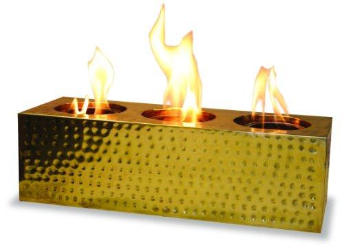 Gel Alcohol 3-fire Rectangular-polished Brass ()
