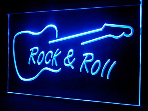 - Man Cave Guitar Rock Roll LED Neon Sign - Light Sign