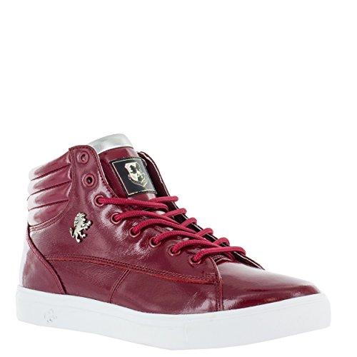 Vlado Chaussures Hommes Czar Cuir Mi-haut Mi-haut Sneaker Bourgogne