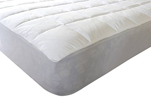 Outlast All Season Temperature Regulating Hypoallergenic Pillowtop Mattress Pad – Reduces Night Sweats, 350 Thread Count, 100% Cotton, White, California King