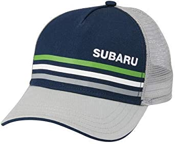 GENUINE SUBARU Blue with Lime Stripe Cap Hat Impreza STI WRX Forester Outback Legacy
