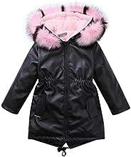 Erpot Winter Children Girl Fur Coat Pu Leather Jacket Kids Girl Winter Hooded Fur Long Coats Christmas
