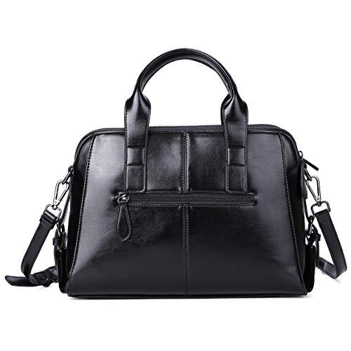 Genuine Leather Handbag for Women Top Handle Satchel Bag Ladies Purses Work Bags 2