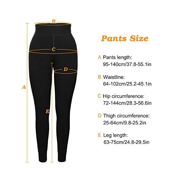 XDDIAS 2 Paires Taille Haute Chaudes Pantalons Collants ÉlastiquesThermique Leggings Automne et Hiver -Noire (Taille…