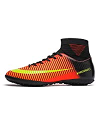 No.66 Town Men's Women's FG High Top Non-Slip Wear Resistant Training Long Studs TF Short Cleats for Teenagers