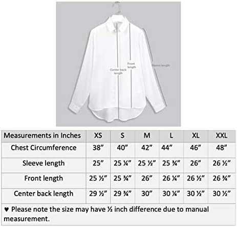 WOMEN'S BUTTON DOWN WORK SHIRTS LONG SLEEVE CHIFFON BLOUSES COLLARED CLASSIC FIT TOPS
