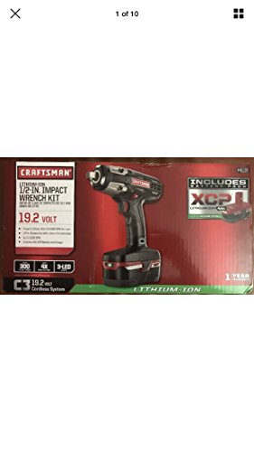 "(Craftsman C3 ½"" Heavy Duty Impact Wrench Kit Powered By 4ah XCP Cordless Tools High Torque)"