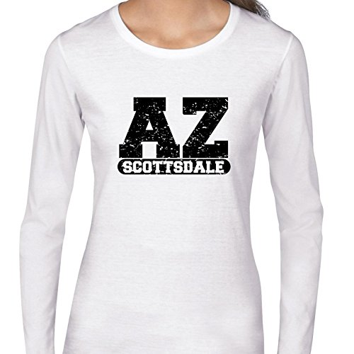 Hollywood Thread Scottsdale, Arizona AZ Classic City State Sign Women's Long Sleeve T-Shirt -