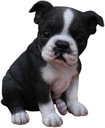 Hi-Line Gift Ltd Sitting Boston Terrier Puppy Statue