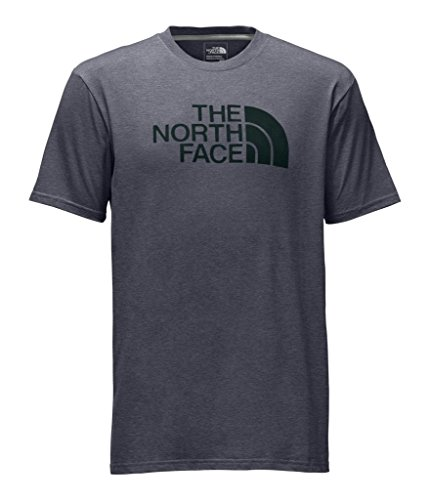 (The North Face Men's Short Sleeve Half Dome Tee - TNF Medium Grey Heather & Darkest Spruce - M (Past Season))