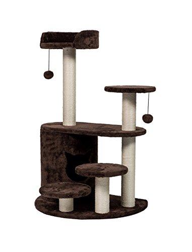 Cat Climbing Post (Enjoi Cat Tree Condo Bed Kitten Climbing Scratcher Post Activity Play House w/Dangling Toy (Coffee))