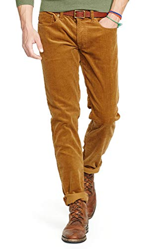 Polo Ralph Lauren Men's Big and Tall Classic Fit Five Pocket Corduroy Pants (38W x 36L, Brown)