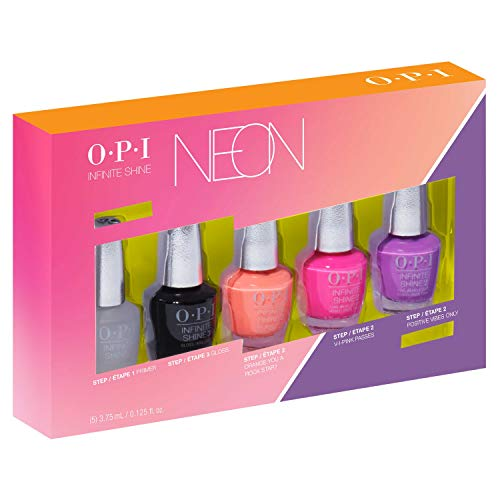 (OPI Summer 2019 Neons Collection Infinite Shine 5 Piecec Mini Pack, 0.625 Fl. Oz.)