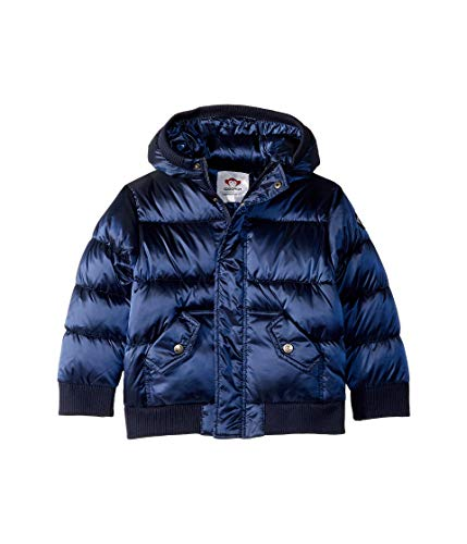 Appaman Kids Baby Boy's Puffy Coat with Hood and Front Pockets (Infant/Toddler/Little Kids/Big Kids) Navy Blue 6 Little Kids