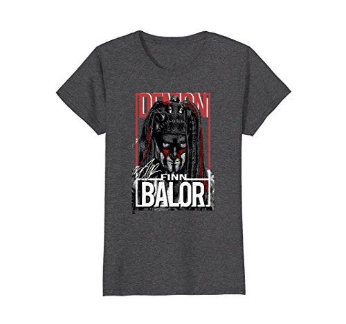 Womens WWE Finn Balor Demon Portrait Large Dark Heather by WWE